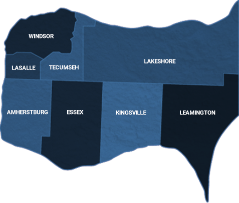 Map of Windsor-Essex County
